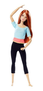 Muñeca Articulada Barbie Made To Move Mattel Original Yoga