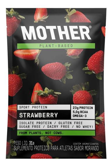 Suplemento Mother Nutrients Sport Protein Morango Sache 31g