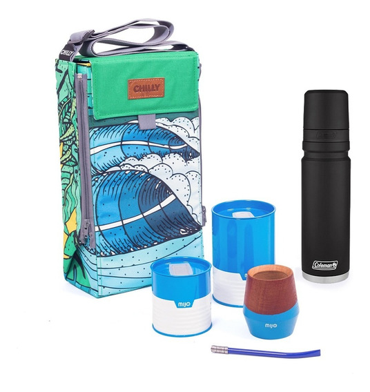 Equipo De Mate Chilly - Termo Coleman 700 Ml Mate Y Yerbera