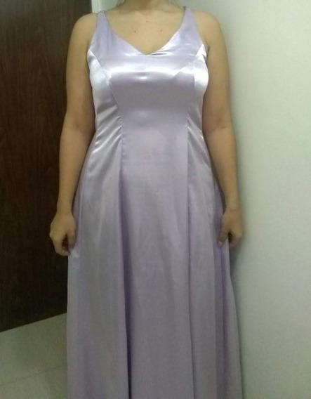 Vestido De Noche Color Violeta