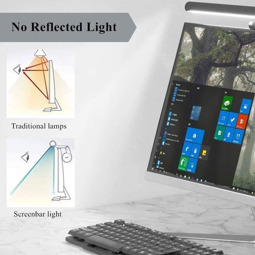barra de luz de pantalla ScreenBar L/ámpara de tarea LED l/ámpara de oficina negra mate alimentada por USB Luz de monitor de computadora