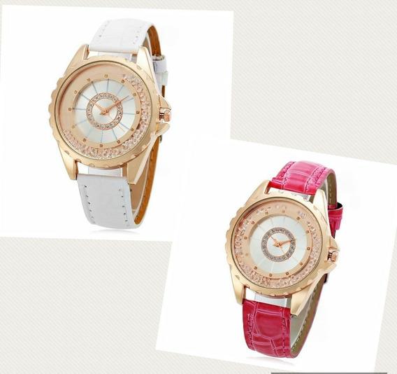 Relógio De Luxo Para Mulheres C/ Strass - Frete Grátis