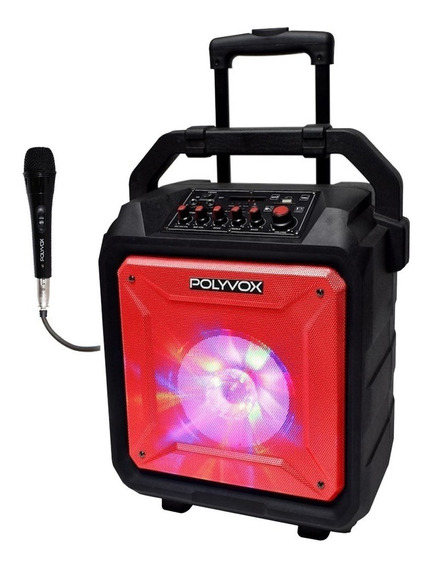 Caixa Amplificada Bluetooth Xb450 Polyvox Bateria 120 Watts