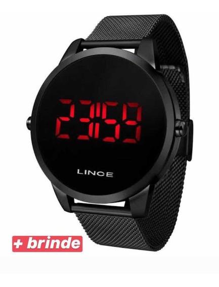 Relógio Masculino Digital Lince Led Mdn4586l Pxpx + Brinde