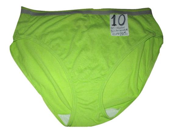Pantaletas Verde Talla 10 (38/40) Algodon Hipster Fruit Of T