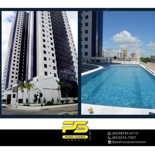 Apartamento Com 2 Dormitórios À Venda, 61 M² Por R$ 357.000 - Estados - João Pessoa/pb - Ap4257