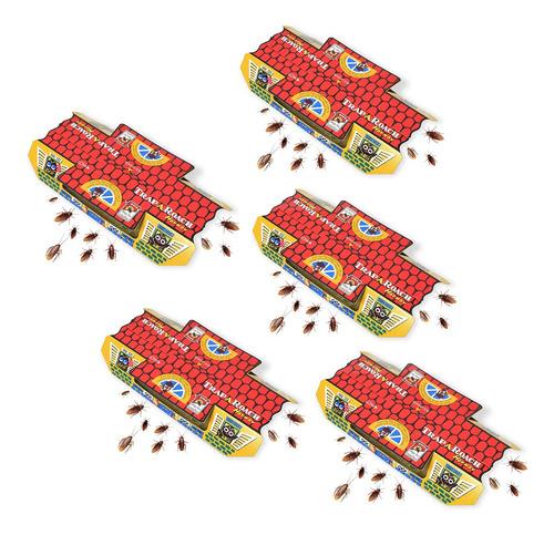 Kit 5 Caixas De Armadilhas Pega Baratas Trap A Roach 25 Unid