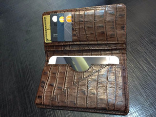 Capa Carteira Em Couro Legítimo Original iPhone 7 Galaxy S8