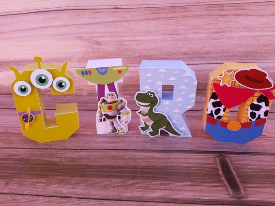 Letras 3d Toy Story 4 Candy Bar Decoracion Cumpleaños