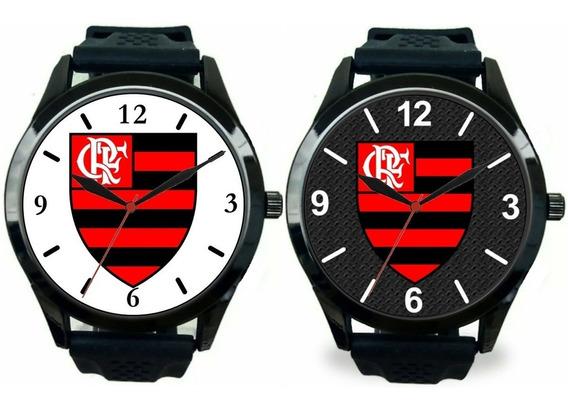 Kit 2 Relógios Pulso Torcedor Flamenguista Esportivos Barato