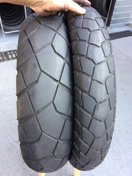 Pneus 110/80/19 E 150/70/17 Bridgestone Usado Vs-tron Tiger
