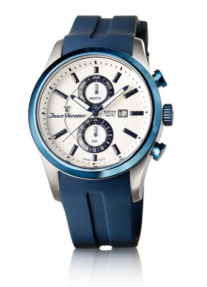 Relógio Jean Vernier Pulseira Silicone Atm Unissex Jv06359