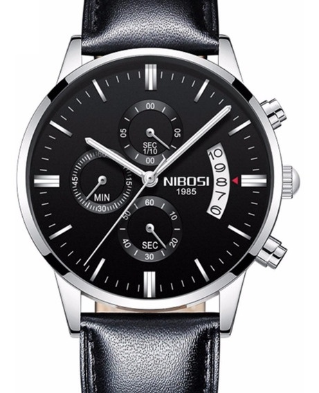 Relógio Nibosi 2309 Original Prata Prova D