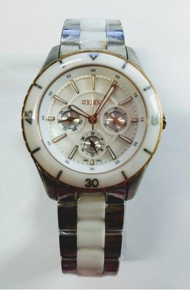 Relógio Orient Multifuncional Com Mostrador Abalone