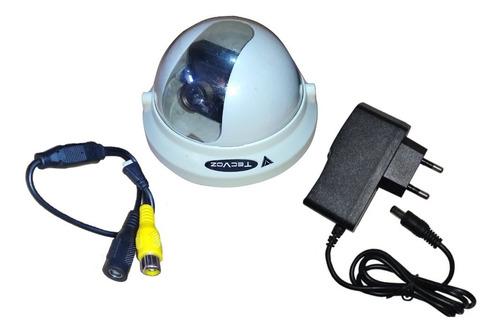 Imagem 1 de 1 de Mini Camera Dome 1/3 Color + Fonte 12v 1a Cftv