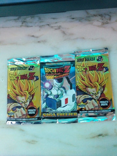 Tarjetas Coleccionables De Dragon Ball Z X 3 Sobres