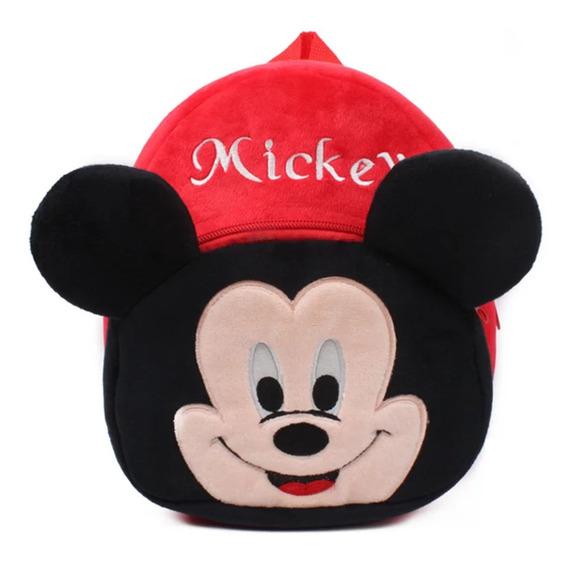 Mochila Infantil De Pelúcia Masculina Mickey Mini 23cm