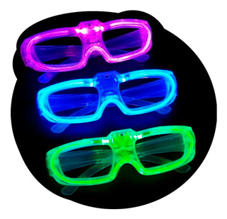 Gafas Lentes Con Luz Led Para Fiesta Carnaval Hora Loca