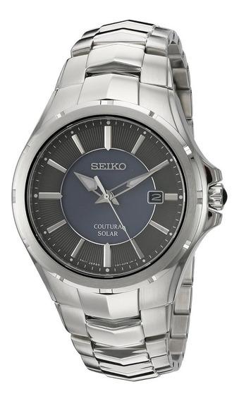 Relógio Seiko Solar Silvertone Sne411