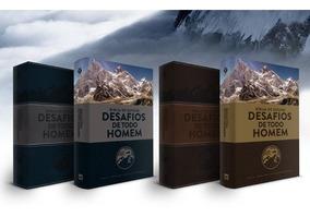 Bíblia De Estudo Desafios De Todo Homem Nvt Azul Ou Marrom