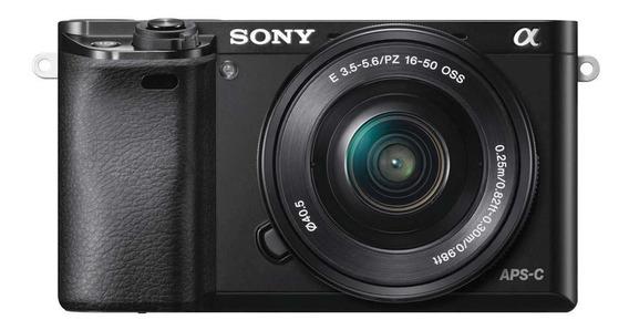 Câmera Digital Sony Mirrorless Ilce-6000l De 24,3mp Wifi