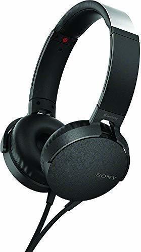 Audifonos Tipo Diadema Con Extra Bajos Color Negro De Sony