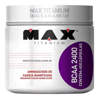 Bcaa 2400 450 Cápsulas - Max Titanium - Aminoácido
