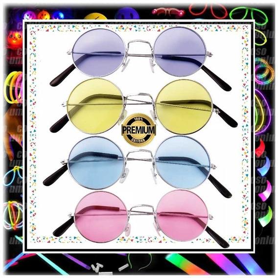 Lentes Lennon X 1 Hippie Anteojos Vidrio Colores Cotillon
