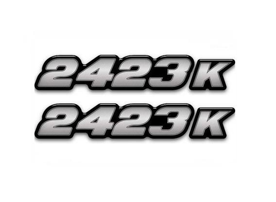 Kit Par De Emblemas Adesivo Reticulados Mercedes Mb 2423k