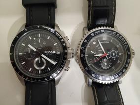 Vendo 2 Relógios (náutica E Fóssil) Semi-novo. Super Negócio