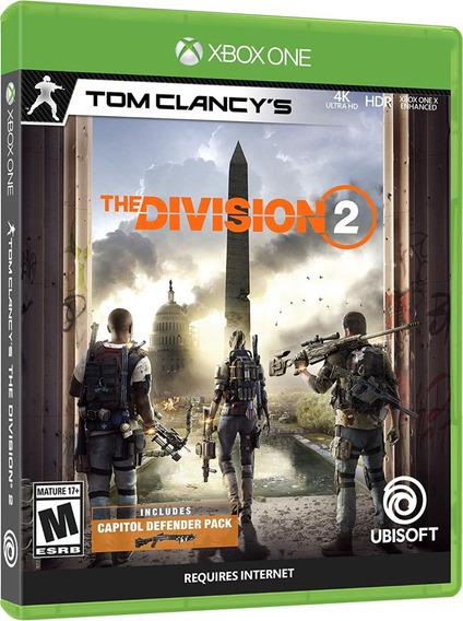 Jogo The Division 2 Xbox One Midia Fisica Dvd Original Novo