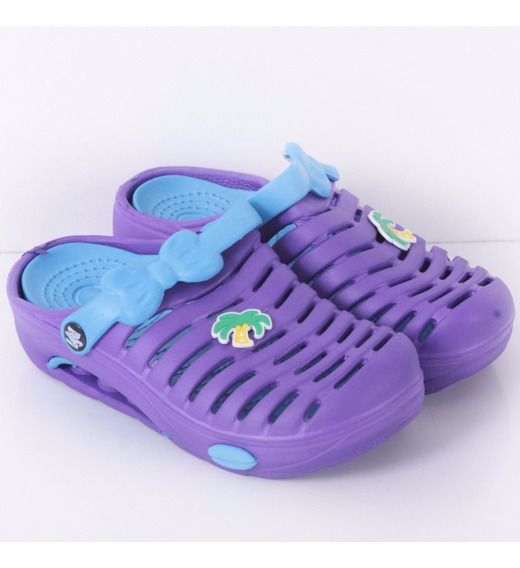 Ojotas Zueco Niña De Goma Modelo Playa Kids De Shoes Bayres