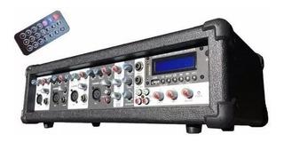Consola Potenciada Sanrai Jmp-4150 Bluetooth 4 Ch Usb Radio
