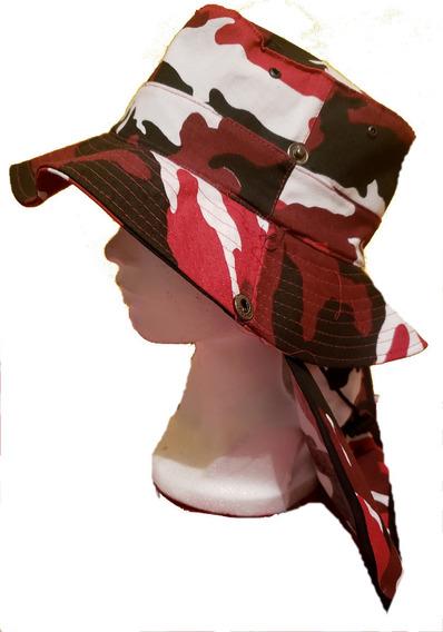 Gorro Sombrero Para Sol Protector Nuca- Camuflaje Tactico