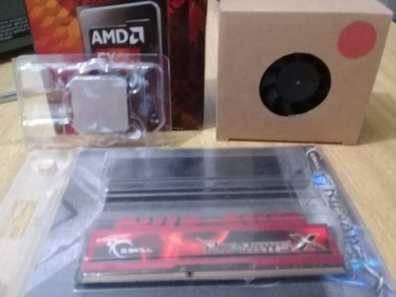 Cpu Amd 8150 3,6ghz E Memória Ram 1333mhz G.skill 4gb+brinde