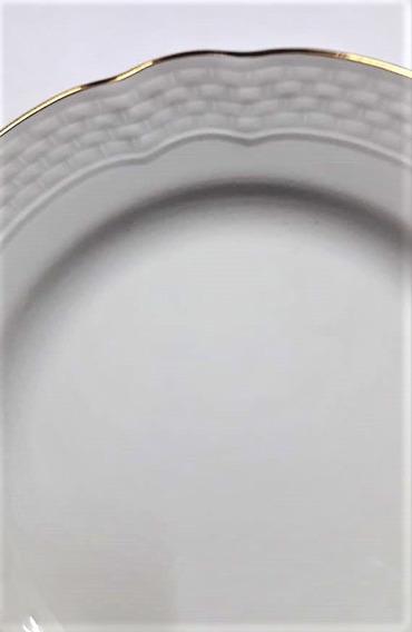 Verbano Jgo. 6 Platos Playos Vanna Filete Oro