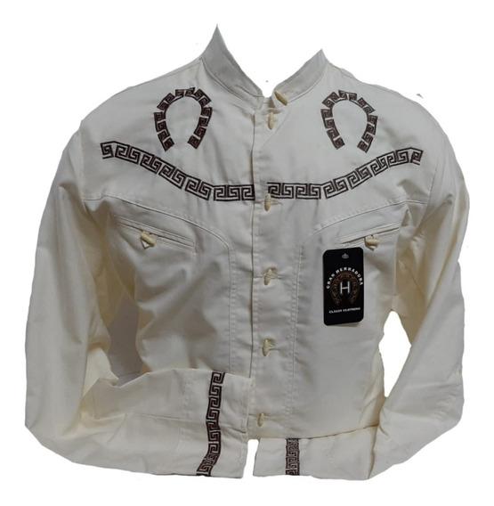 Camisa Charra Pachuqueña Bordada