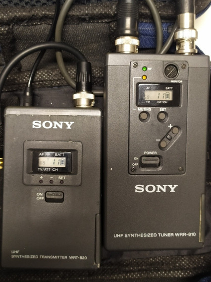 Microfone Lapela Sony Transmissor Wrt-820 Receptor Wrr-810