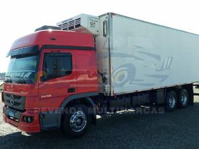 Mb 2430, Truck 6x2, Vermelho, 2017 + Câmara Fria 2014. R8775