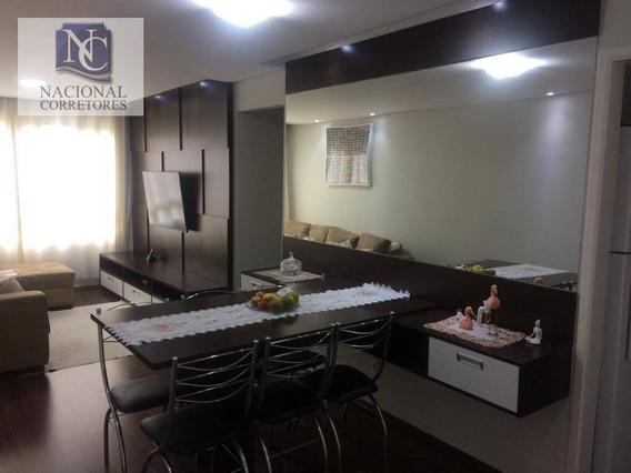 Apartamento Com 2 Dormitórios À Venda, 63 M² Por R$ 260.000,00 - Jardim Utinga - Santo André/sp - Ap9172