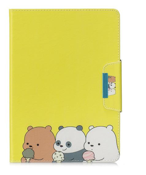 Capa De Tablet Capa De Couro Pu Urso iPad 5/6/7/8