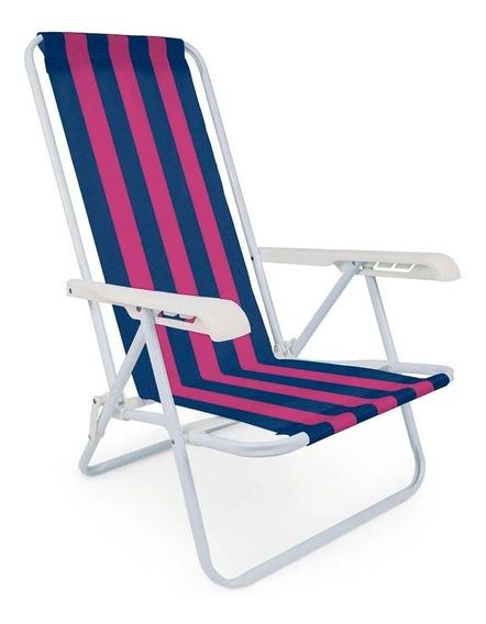 Cadeira De Praia, Pscina 4 Posições Reclinavel - Mor