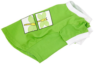 Dogit 90082 Style T-shirt, S, Green With Firefly Design