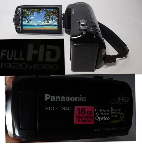 Filmadora Panasonic Hdc Tm40 Full Hd Alta Definição Imagem