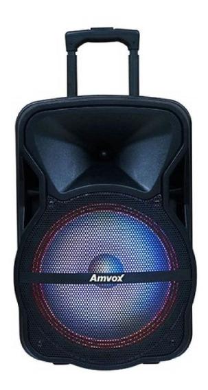 Caixa de som Amvox ACA 292 portátil sem fio Preto 110V/220V