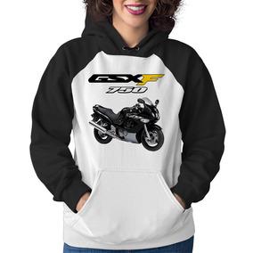 Moletom Feminino Moto Suzuki Gsx 750 F Katana Preta