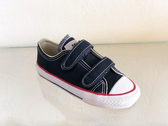Tênis Infantil Menino Pakar Preto Marinho Velcro Original