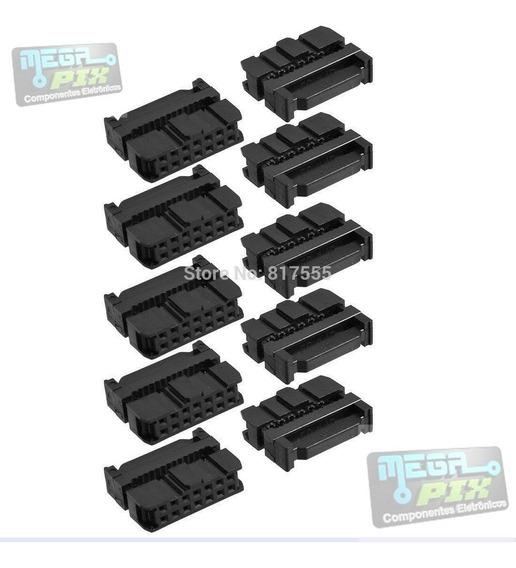 Conector Latch Idc Femea 14 Vias P/ Flat - Fc-14 Pct.50pçs