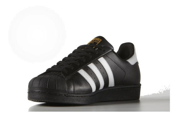 Tênis adidas Superstar Preto Com Branco