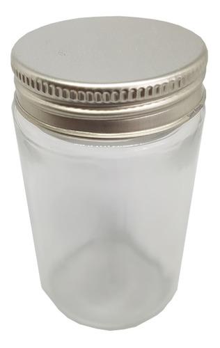 Imagem 1 de 4 de 30 Pote Comprido De Vidro Tampa Alumínio P/ Bolo Fake 100ml